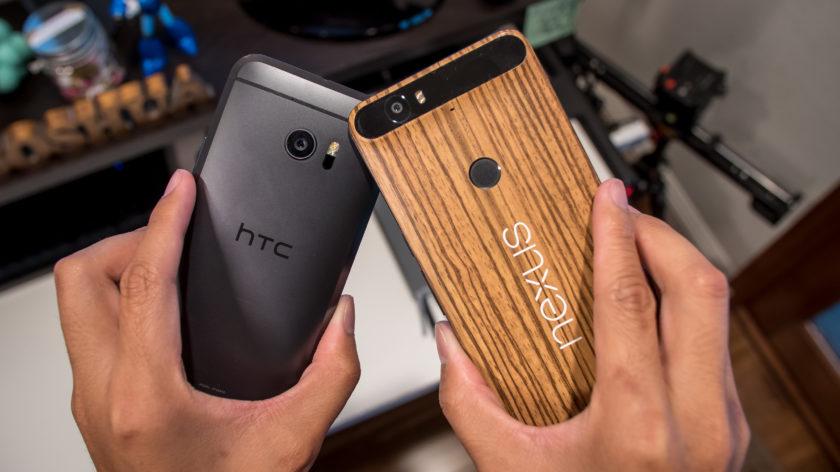 HTC 10 vs Nexus 6P Design