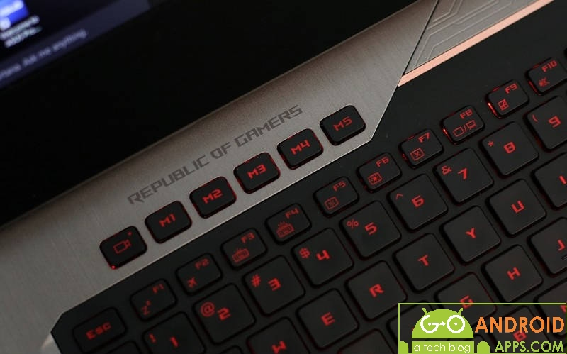 Asus ROG G752VY Buttons