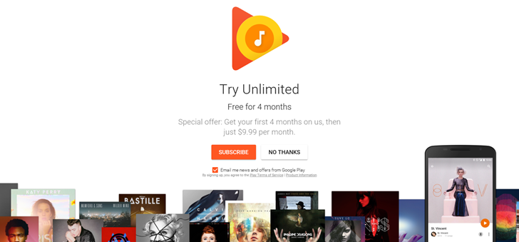 Google Offers 4 Months of Free Subscription to YouTube Red and New Play Music Subscribers