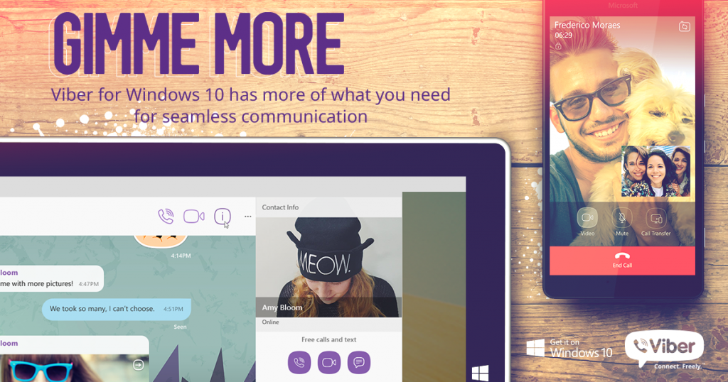 Viber video calls and more are now available on Windows 10 mobile