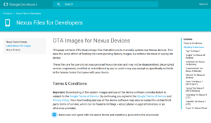 Be sure to agree to the legal terms of use to get the files for a manual OTA.