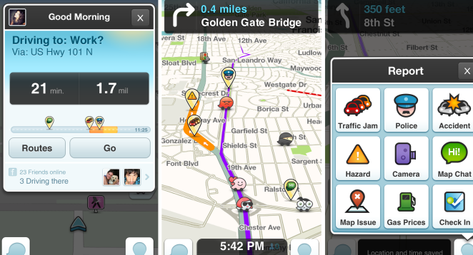 waze ios android