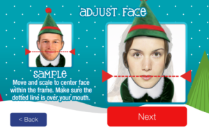 that means you can make them all of yourself or you can choose friends and family members to include in the dancing elf video you can then choose a theme - Christmas Elf Dance App