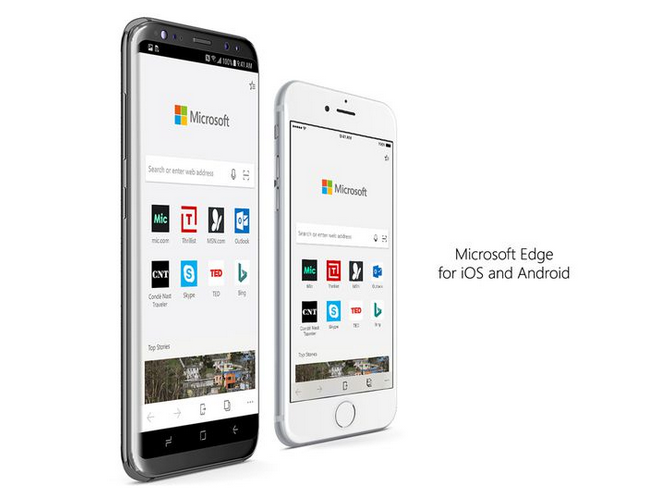 Microsoft Edge for Android and iOS Comes Out of Preview